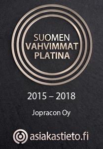 Jopracon Oy Suomen vahvimmat logo