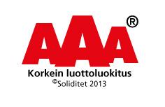 Jopracon Oy AAA luottoluokitus 2013